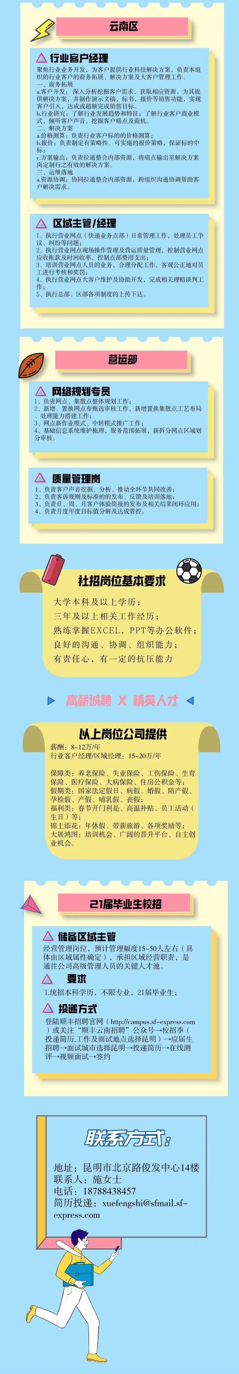 云南顺丰速运有限公司2021年社招 校招公告 年薪8万起!六险一金! 私营|民企 第2张