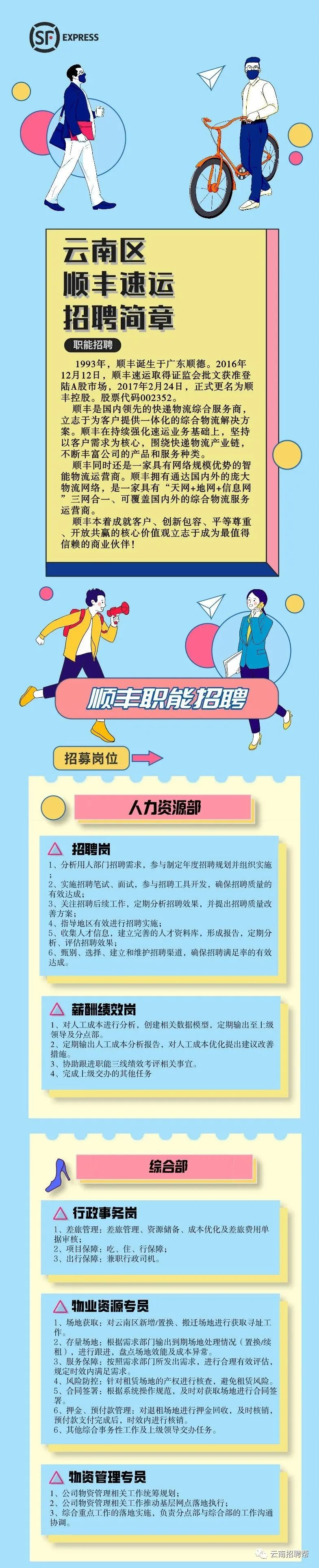 云南顺丰速运有限公司2021年社招 校招公告 年薪8万起!六险一金!