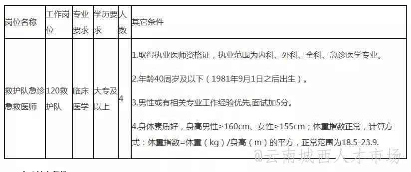 宜良县第一人民医院2021年招聘公告,大专及以上